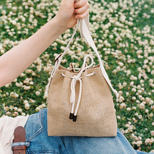 picnic mini bucket bag (beige)