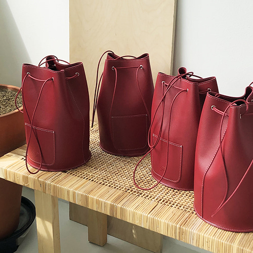 [3차 입고] minimal cylinder bag - red color