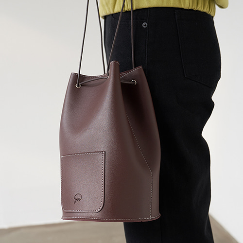 minimal cylinder bag (chocolate)