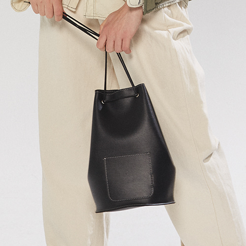 [7차 입고] minimal cylinder bag - black color