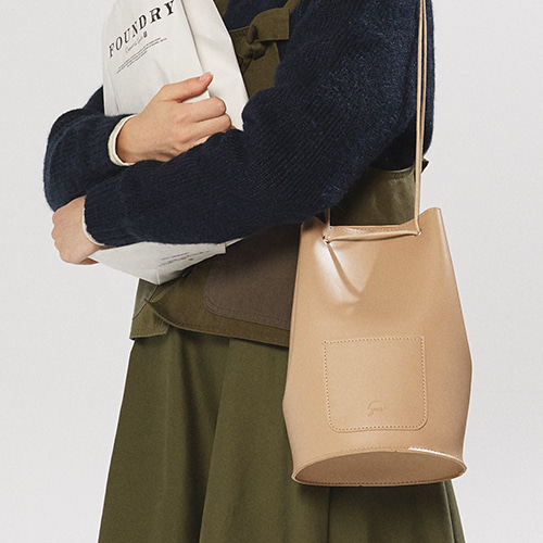 [5차 입고] minimal cylinder bag - beige color