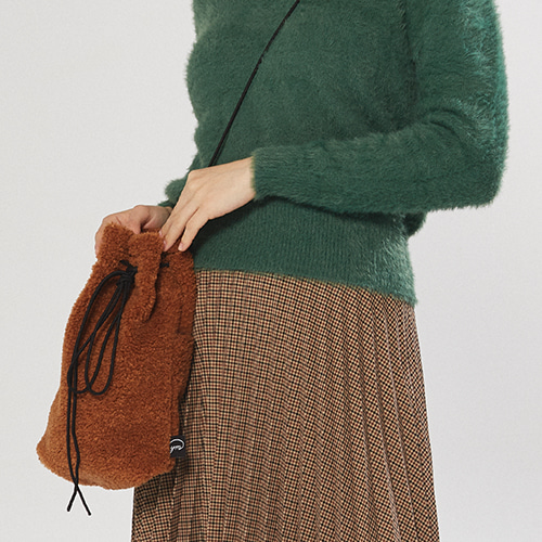 soft daily bucket bag (camel)